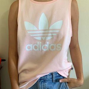 Pink Adidas Trefoil Muscle Tee
